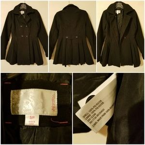 *Xhilaration*  Black Heavy Coat Sz SP